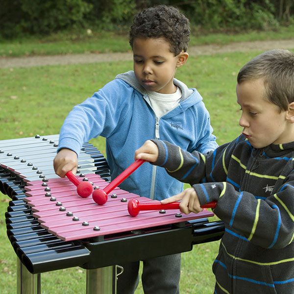 Two Boys Playing Playground AkadindaXylophone