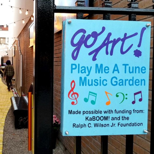 Vibrant Musical Alleyway Opens Thanks To KaBOOM! Grant - Genesee County New York