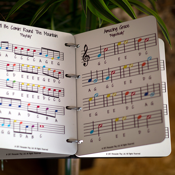 Music Book (Four Music Sheets/8 Songs)