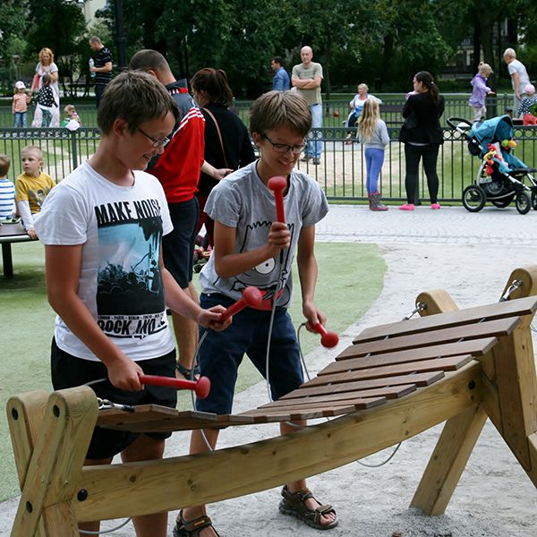Musical Playground Created In Regenerated Old City Park, Poland