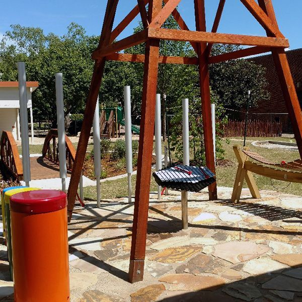 Oklahoma State University include outdoor musical instruments in 'Return to Nature Outdoor Classroom'